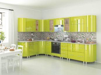 Кухня Танго лайм модульная